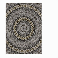 Celestial Pinwheel Of Pattern Texture And Abstract Shapes N Brown Large Garden Flag (Two Sides)