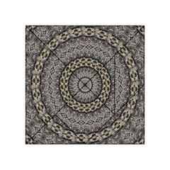 Celestial Pinwheel Of Pattern Texture And Abstract Shapes N Brown Acrylic Tangram Puzzle (4  x 4 )