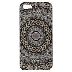 Celestial Pinwheel Of Pattern Texture And Abstract Shapes N Brown Apple Iphone 5 Hardshell Case