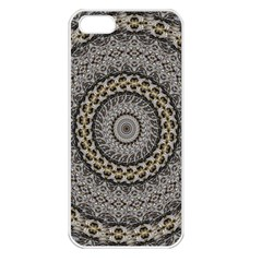 Celestial Pinwheel Of Pattern Texture And Abstract Shapes N Brown Apple Iphone 5 Seamless Case (white)