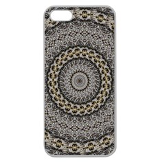 Celestial Pinwheel Of Pattern Texture And Abstract Shapes N Brown Apple Seamless Iphone 5 Case (clear)