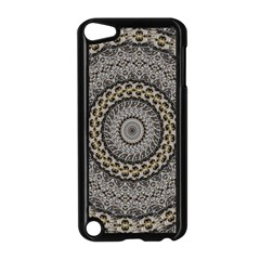Celestial Pinwheel Of Pattern Texture And Abstract Shapes N Brown Apple Ipod Touch 5 Case (black)