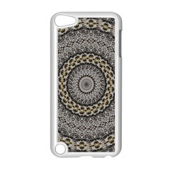 Celestial Pinwheel Of Pattern Texture And Abstract Shapes N Brown Apple iPod Touch 5 Case (White)