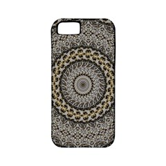 Celestial Pinwheel Of Pattern Texture And Abstract Shapes N Brown Apple Iphone 5 Classic Hardshell Case (pc+silicone)