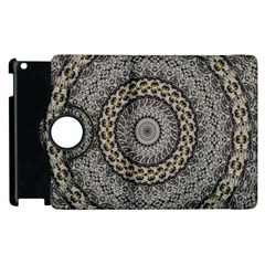 Celestial Pinwheel Of Pattern Texture And Abstract Shapes N Brown Apple iPad 2 Flip 360 Case