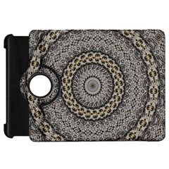 Celestial Pinwheel Of Pattern Texture And Abstract Shapes N Brown Kindle Fire HD 7