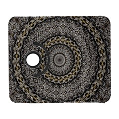Celestial Pinwheel Of Pattern Texture And Abstract Shapes N Brown Galaxy S3 (flip/folio)