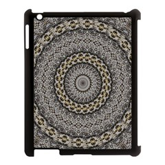 Celestial Pinwheel Of Pattern Texture And Abstract Shapes N Brown Apple Ipad 3/4 Case (black)