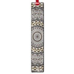 Celestial Pinwheel Of Pattern Texture And Abstract Shapes N Brown Large Book Marks