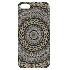 Celestial Pinwheel Of Pattern Texture And Abstract Shapes N Brown Apple Iphone 5 Hardshell Case With Stand