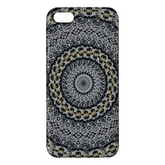 Celestial Pinwheel Of Pattern Texture And Abstract Shapes N Brown Apple Iphone 5 Premium Hardshell Case