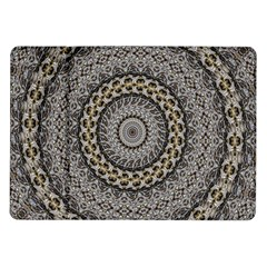 Celestial Pinwheel Of Pattern Texture And Abstract Shapes N Brown Samsung Galaxy Tab 10 1  P7500 Flip Case