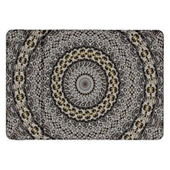 Celestial Pinwheel Of Pattern Texture And Abstract Shapes N Brown Samsung Galaxy Tab 8 9  P7300 Flip Case