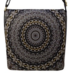 Celestial Pinwheel Of Pattern Texture And Abstract Shapes N Brown Flap Messenger Bag (S)
