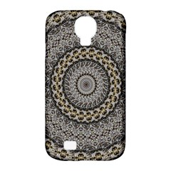 Celestial Pinwheel Of Pattern Texture And Abstract Shapes N Brown Samsung Galaxy S4 Classic Hardshell Case (pc+silicone)