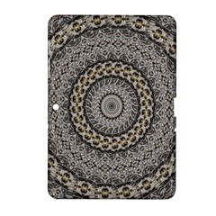 Celestial Pinwheel Of Pattern Texture And Abstract Shapes N Brown Samsung Galaxy Tab 2 (10.1 ) P5100 Hardshell Case