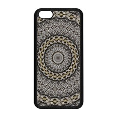 Celestial Pinwheel Of Pattern Texture And Abstract Shapes N Brown Apple Iphone 5c Seamless Case (black)