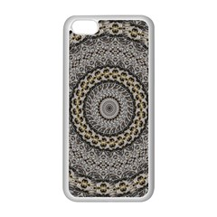 Celestial Pinwheel Of Pattern Texture And Abstract Shapes N Brown Apple iPhone 5C Seamless Case (White)
