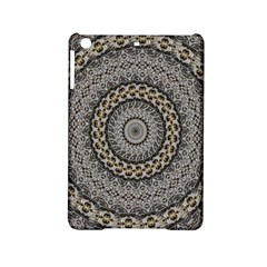 Celestial Pinwheel Of Pattern Texture And Abstract Shapes N Brown Ipad Mini 2 Hardshell Cases