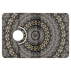 Celestial Pinwheel Of Pattern Texture And Abstract Shapes N Brown Kindle Fire HDX Flip 360 Case
