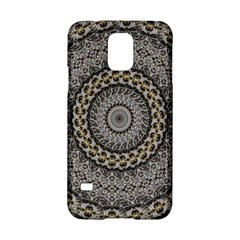 Celestial Pinwheel Of Pattern Texture And Abstract Shapes N Brown Samsung Galaxy S5 Hardshell Case