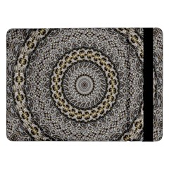 Celestial Pinwheel Of Pattern Texture And Abstract Shapes N Brown Samsung Galaxy Tab Pro 12.2  Flip Case