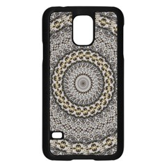 Celestial Pinwheel Of Pattern Texture And Abstract Shapes N Brown Samsung Galaxy S5 Case (black)