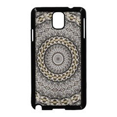 Celestial Pinwheel Of Pattern Texture And Abstract Shapes N Brown Samsung Galaxy Note 3 Neo Hardshell Case (Black)