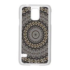 Celestial Pinwheel Of Pattern Texture And Abstract Shapes N Brown Samsung Galaxy S5 Case (white)