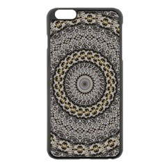 Celestial Pinwheel Of Pattern Texture And Abstract Shapes N Brown Apple iPhone 6 Plus/6S Plus Black Enamel Case