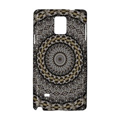 Celestial Pinwheel Of Pattern Texture And Abstract Shapes N Brown Samsung Galaxy Note 4 Hardshell Case