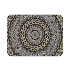 Celestial Pinwheel Of Pattern Texture And Abstract Shapes N Brown Double Sided Flano Blanket (Mini)