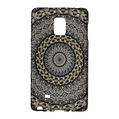 Celestial Pinwheel Of Pattern Texture And Abstract Shapes N Brown Galaxy Note Edge