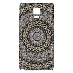 Celestial Pinwheel Of Pattern Texture And Abstract Shapes N Brown Galaxy Note 4 Back Case