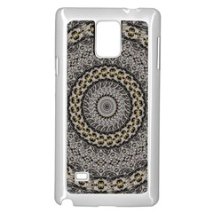 Celestial Pinwheel Of Pattern Texture And Abstract Shapes N Brown Samsung Galaxy Note 4 Case (White)