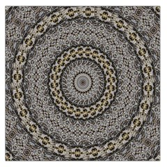 Celestial Pinwheel Of Pattern Texture And Abstract Shapes N Brown Large Satin Scarf (square)