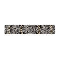 Celestial Pinwheel Of Pattern Texture And Abstract Shapes N Brown Flano Scarf (Mini)