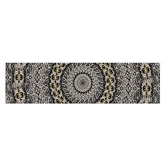 Celestial Pinwheel Of Pattern Texture And Abstract Shapes N Brown Satin Scarf (oblong)
