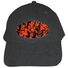 Abstract Orange Background Black Cap