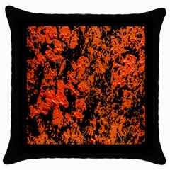 Abstract Orange Background Throw Pillow Case (black)