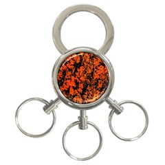 Abstract Orange Background 3 Ring Key Chains