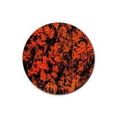 Abstract Orange Background Rubber Coaster (round)