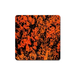Abstract Orange Background Square Magnet
