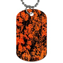 Abstract Orange Background Dog Tag (One Side)