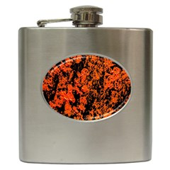 Abstract Orange Background Hip Flask (6 Oz)