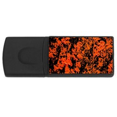 Abstract Orange Background USB Flash Drive Rectangular (1 GB)