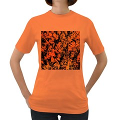 Abstract Orange Background Women s Dark T Shirt