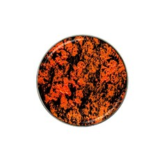 Abstract Orange Background Hat Clip Ball Marker (4 pack)