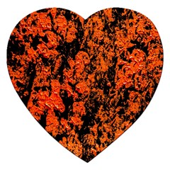 Abstract Orange Background Jigsaw Puzzle (Heart)