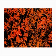 Abstract Orange Background Small Glasses Cloth